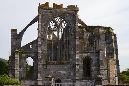 Aulne Abbey (Abbaye d'Aulne), Belgium 免版税图像