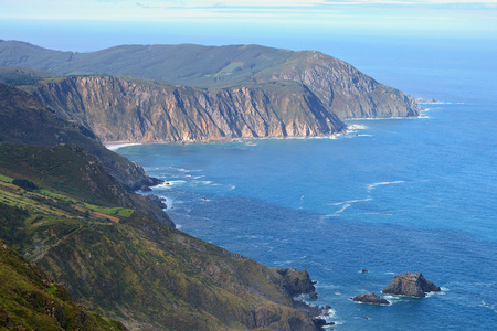 Mirador Vixia da Herbeira close to Cape Ortegal on the northern coast of Galicia, Ortigueira, Spain, Europe