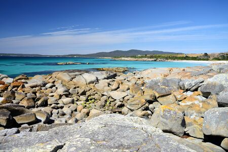 Bay of Fires is one of Tasmanias most popular conservation reserves, Tasmania, Australia
