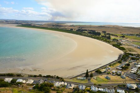 View from the The Nut, Stanley, Tasmania, Australia Banco de Imagens