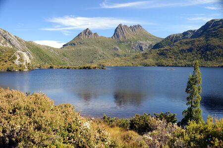 Breathtaking views of Mountain Cradlle National Park in Tasmania, Australia