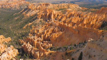 View On Sand Mountain Red Orange Bryce Canyon National Park Stok Fotoğraf