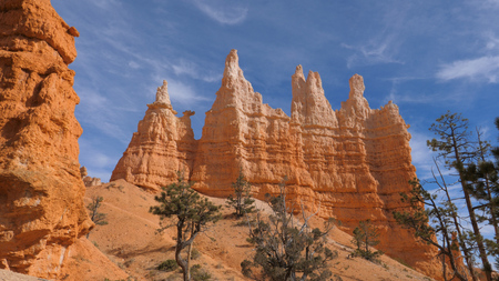 Stunning Gorge With Orange Red Sandy Mountains Beautiful Bryce Canyon Stok Fotoğraf