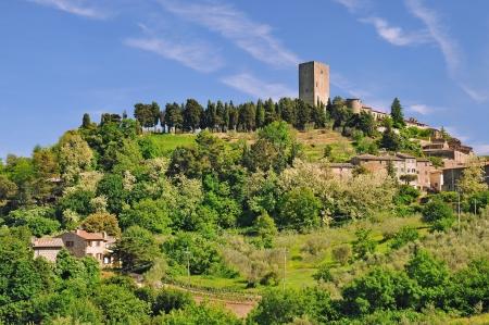 idyllischen Dorf in der Nähe von Montecatini Volterra, Toskana, Italien