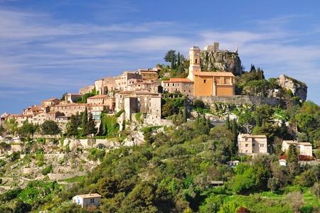mittelalterliche Dorf Eze der Nähe von Cannes, Französisch Riviera Lizenzfreie Bilder
