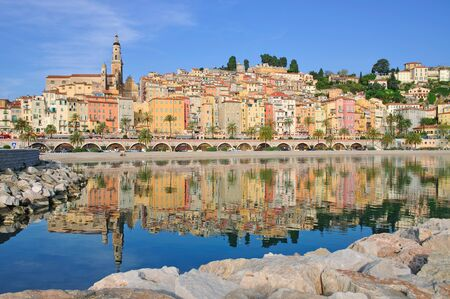 menton: Menton and french Riviera in Cote d Azur,South of France