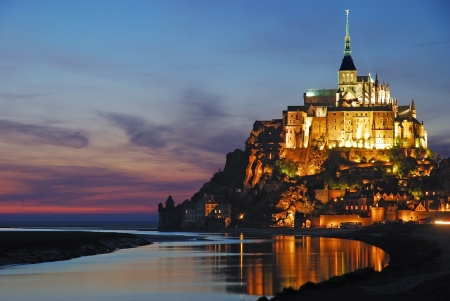 Mont St Michel in Normandy,France Stock Photo