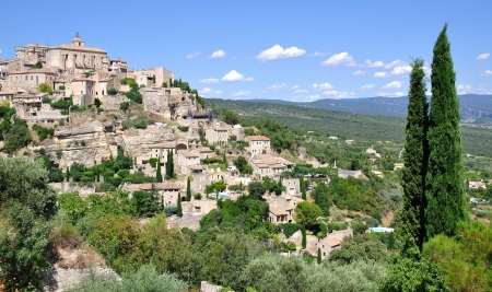 gordes: medieval Village of Gordes in Provence,France