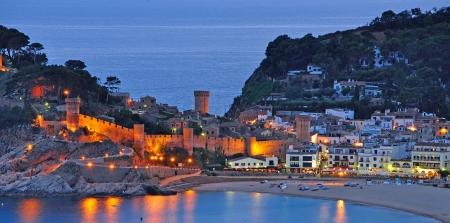 costa brava: le c�l�bre village de Tossa de Mar, Costa Brava, Espagne Banque d'images