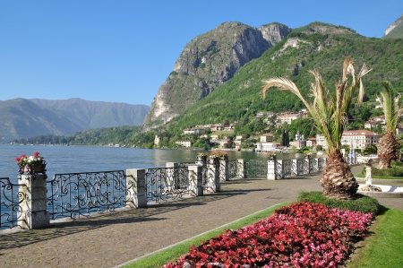 Promenade of Menaggio at Lake Como,Italy Stock Photo - 16554442