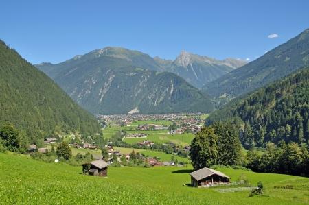 Mayrhofen in Zillertal Valley,Tirol,Austria