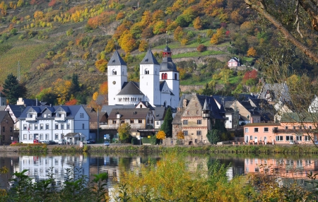 mosel: Treis-Karden,Mosel Valley,Germany