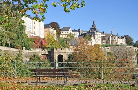 benelux: Autumn in Luxembourg City,Benelux Stock Photo