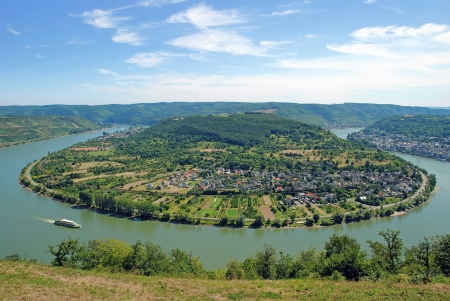 the famous Rhine River Bend near Boppard,Germany