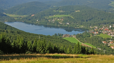 View over Lake Titisee in Black Forest,Germany