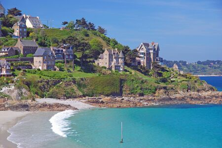 ploumanach: Village of Perros-Guirec near Ploumanach,Brittany,France Stock Photo