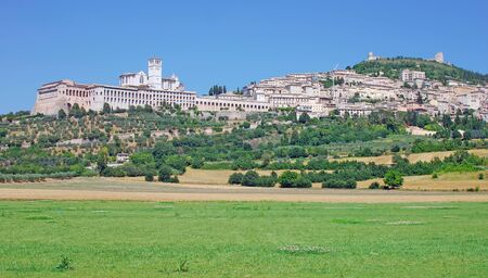 umbria: the famous Village of Assisi,Umbria,Italy