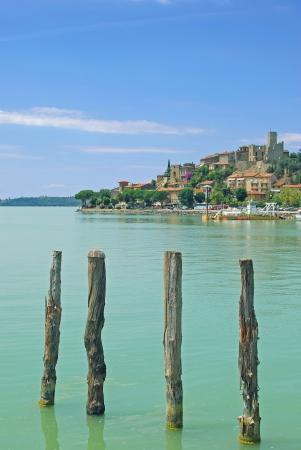 Passignano sul Trasimeno am Lago Trasimeno, Umbrien, Italien Lizenzfreie Bilder