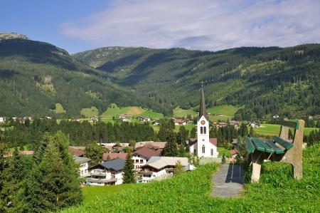 Dorf Riezlern im Kleinwalsertal, Vorarlberg, Österreich Lizenzfreie Bilder