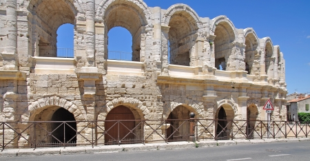 arles: the famous roman Arena of Arles in Provence,South of France
