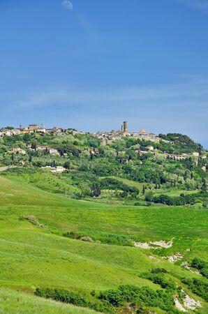 volterra: Village of Volterra,Tuscany,Italy Stock Photo