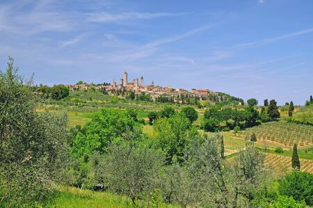 the famous medieval Village of San Gimignano,Tuscany,Italy  photo