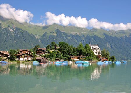 bernese oberland: the Village of Iseltwald at Lake Brienz,Bernese Oberland,Switzerland