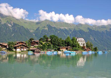 oberland: the Village of Iseltwald at Lake Brienz,Bernese Oberland,Switzerland