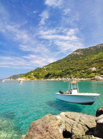 idyllischer Ort auf der Insel Elba in Cabo San Andrea, Elba, Toskana, Italien Lizenzfreie Bilder