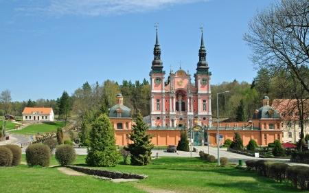 masuria: View from the public Road to the famous Church of Swieta Lipka,Masuria,Poland Stock Photo