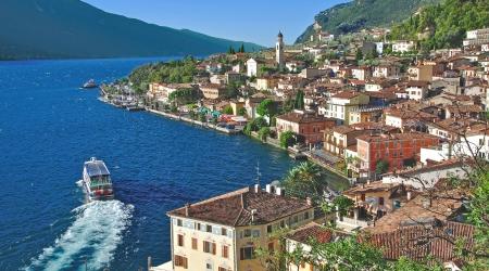 garda: the famous Village of Limone sul Garda,Lake Garda,Italy
