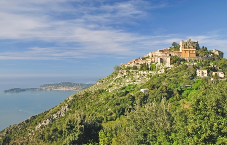 french riviera: the famous medieval Village of Eze at french Riviera near Cannes,South of France