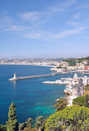 azur: Nizza at the french Riviera,Cote d Azur,South of France