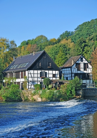 grinding: historic Grinding House at Wupper River near Solingen,Bergischland,Germany