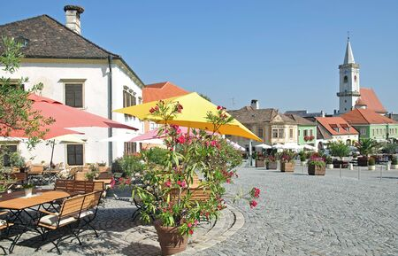 market place: Market Place in the famous Village of Rust at Lake Neusiedl,Austria