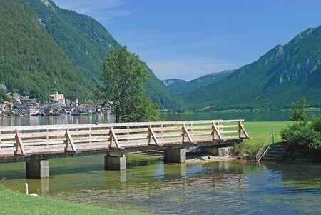 Village of Hallstatt at Lake Hallstatt,upper Austria Stock Photo - 16952359