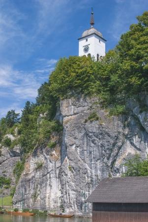 upper austria: Traunkirchen at Lake Traunsee in upper Austria
