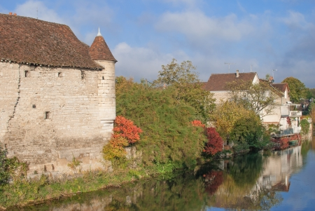idyllic Village of Chablis in Burgundy,France