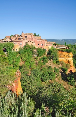 the famous Village of Roussillon in Provence,France Stock Photo - 17011588