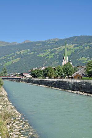 Zell am Ziller in Zillertal,Tirol,Austria Stock Photo - 17277267