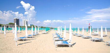 veneto: Beach of Lignano,venetian Riviera,Veneto,Italy Stock Photo
