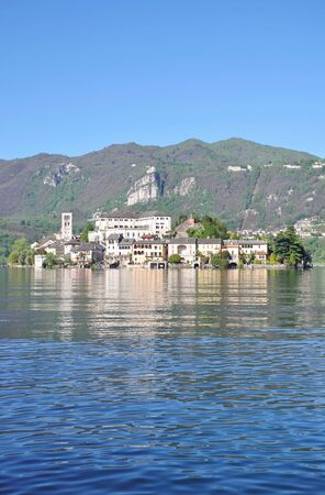 Isola San Giulio,lake Orta,Italy photo