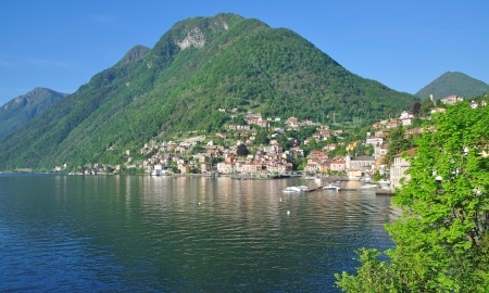 Village of Colonno at Lake Como,Italy Stock Photo - 17277344