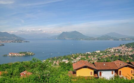 Stresa and the Isola Bella at Lake Maggiore,Italy Stock Photo - 17277341