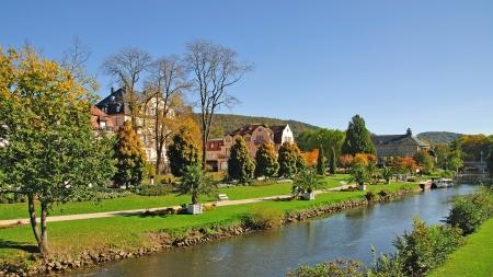 das berühmte Dorf von Bad Kissingen in Bayern, Deutschland Lizenzfreie Bilder
