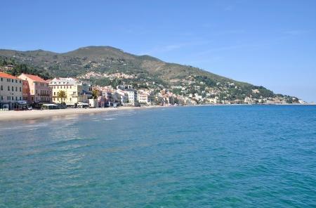 Alassio at italian Riviera,Liguria,Italy