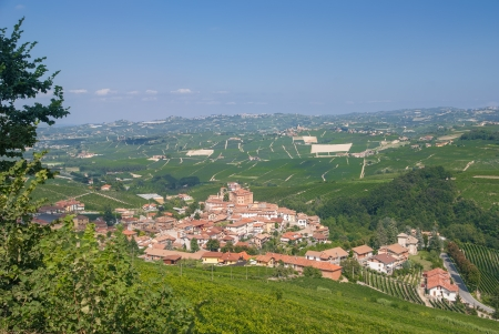 piedmont: the famous Village of Barolo in Piedmont,Italy Stock Photo