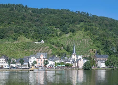 alf: Wine Village of Alf at Mosel River,Germany Stock Photo