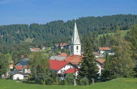 enclave: Village of Jungholz in Tirol,Austria Stock Photo
