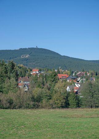 brocken: Village of Braunlage in Harz Mountains near Brocken Mountain,Germany